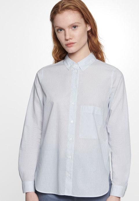 Voile Hemdbluse aus 100% Baumwole
